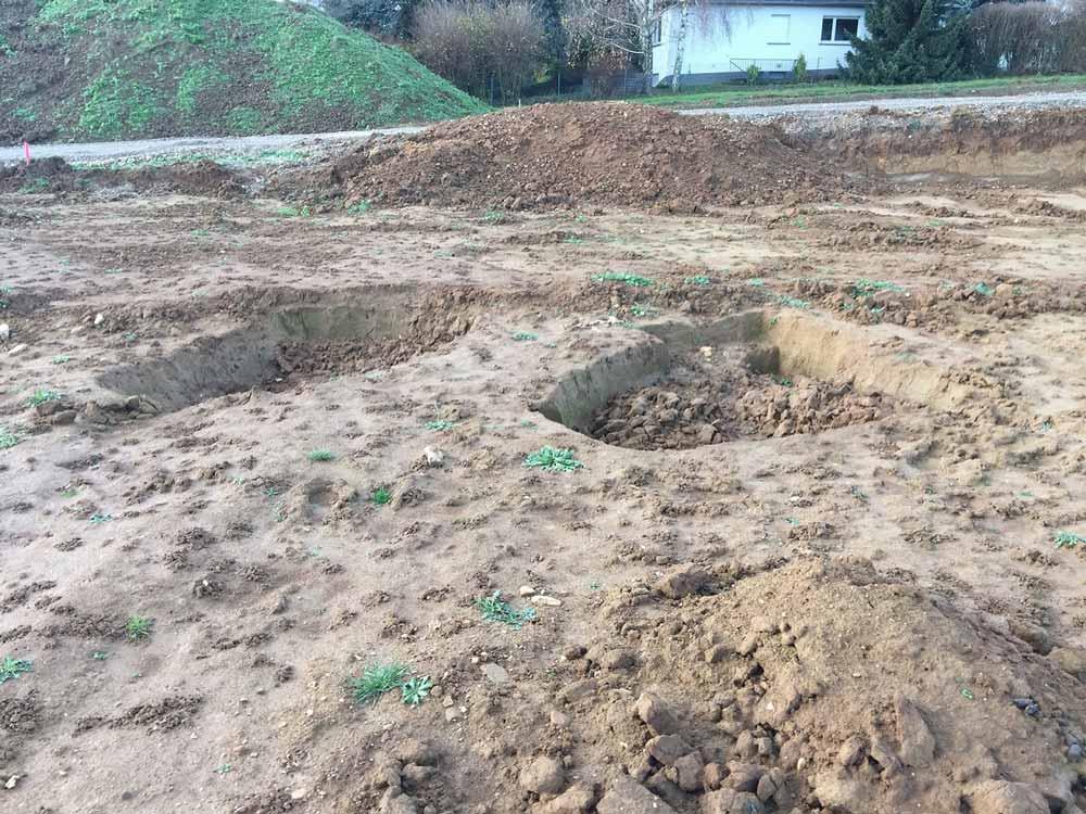 Nach Ausgrabung