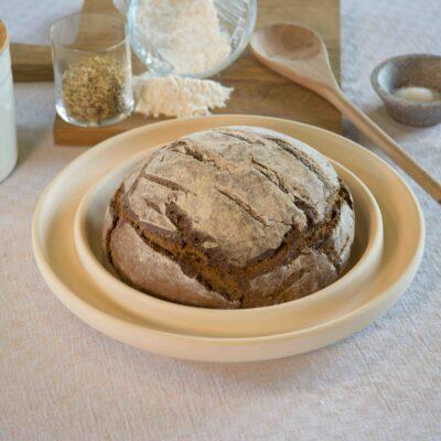 Bread und Cake -  Backplatte rund Natur