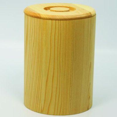 Holzdose aus Linde fŸr 2 kg