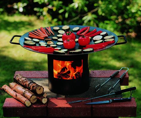 Grips - der Feuer-Wok-/Grill in der Holzkiste