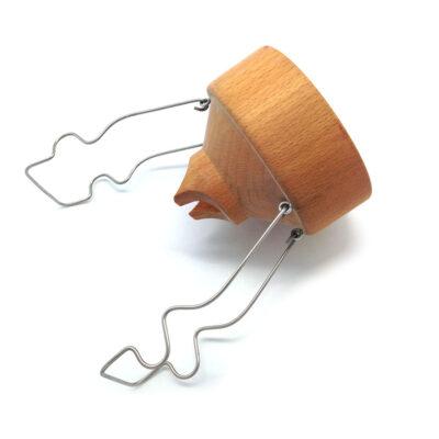 Holztrichter für Wandkornquetsche