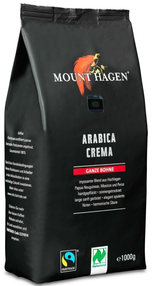Mount Hagen Arabica Crema Bio Kaffee 1kg