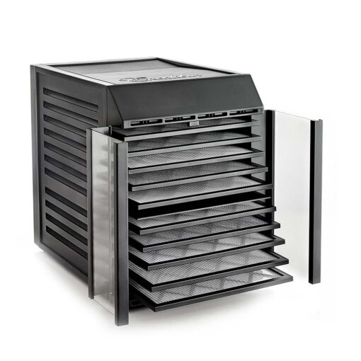 Excalibur RES10 angle open trays out