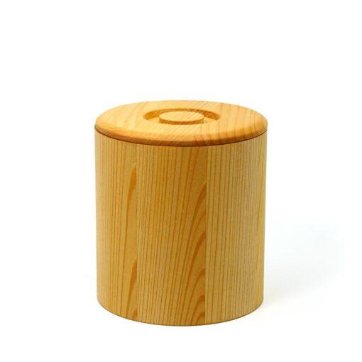 Holzdose aus Linde für 1 kg